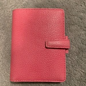 Pink Pocket Filofax Pimlico Genuine ItalianLeather